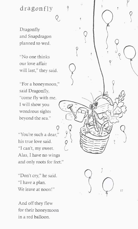 Dragonfly Poem From Bugs Children S Author David L
