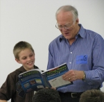 David reading with Noah Lawson