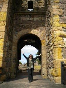 Jane at Direlton Castle 2010