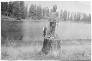 David's first fish