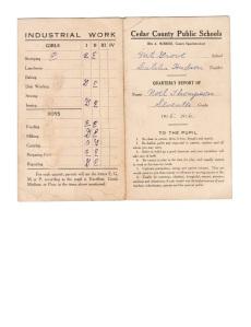 Noel's report card