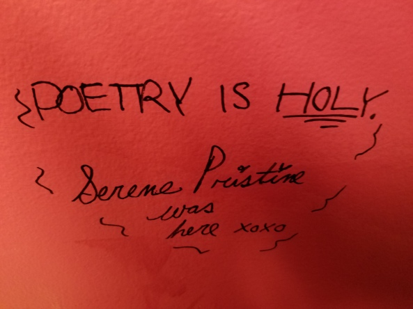 Poetry is Holy